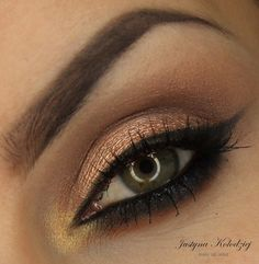 'Afterglow Party' look by Dzastina252 using Makeup Geek's Afterglow pigment!
