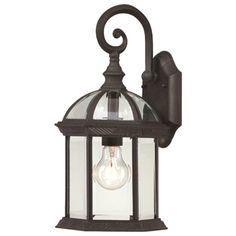 Boxwood Outdoor Wall Lantern in Black at Joss & Main