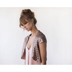 Bronze sequin Bolero | Your Style Code