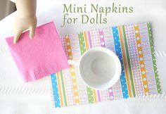 Doll napkin and placemat...only pinning because if I don't I'll forget this...