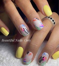 Wow Nails, Cute Gel Nails, Daisy Nails, Purple Nails, Stylish Nails, Trendy Nails, Cute Nail Art Designs, Dipped Nails, Gorgeous Nails