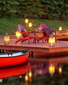 Rustic Inn  ( Jackson Hole, Wyoming )  A boardwalk protects the properties wetlands and leads to a dock on a small pond. #Jetsetter #JSBeachDining