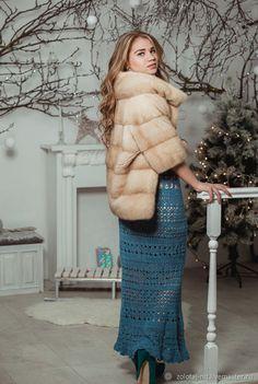 Купить Юбка в пол Объятья декабря - Вязание крючком, ажурная юбка, юбка в пол