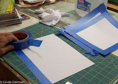printmaking without a press with Linda Germain: Prepare paper for Gelatin Printing
