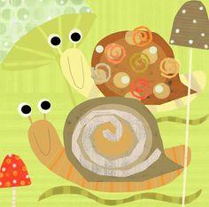 Swirly Snails | Amy Schimler-Safford, Oopsy Daisy