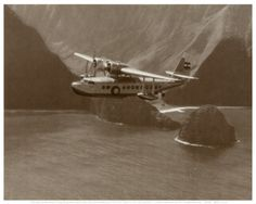 Inter-Island Airways, Sikorsky S-43, North Shore, Molokai, Hawaii, 1937  by Paul Sidney Grade
