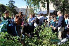 MVP 360 #Eagles #Care Partner at Net Garden of the PA #Horticultural #Society with #Mark #Sanchez & #Bennie #Logan! #City #Harvest  https://www.mvp360.org/