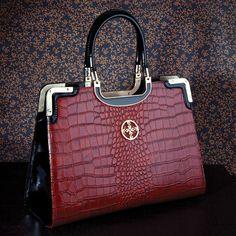 Vivica Leather Tote 25648 Stauer