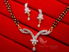 Daphne Impressive Zircon Studded Mangalsutra for Women – Buy Indian Fashion Jewellery Gifts For Wife, Send Gifts, Indian Fashion, Jewelry Watches, Fashion Jewelry, Diamond, Regional, Ethnic, Stuff To Buy
