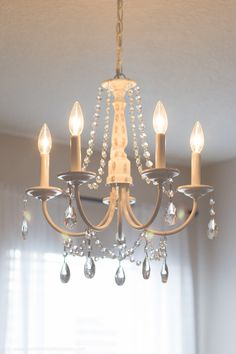 You can make your own DIY crystal chandelier. This site shows you how! #easydiy #diy #decor #chandelier                                                                                                                                                                                 More