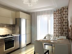 """Дизайн-бюро """"Двоеточие"""": Дизайн кухни в стиле хай-тек"""