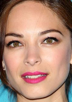 Close-up of Kristin Kreuk at The CW Network's 2015 upfront. http://beautyeditor.ca/2015/05/23/celebrity-beauty-looks-jamie-chung