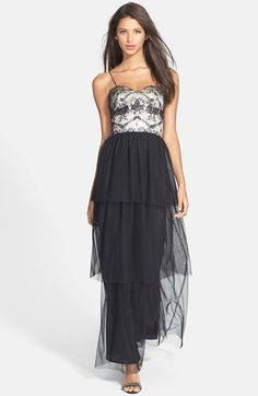 Hailey by Adrianna Papell Bustier Tiered Tulle Gown available at #Nordstrom