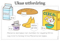 ukas utfordring Teaching Math, Maths, Brain Teasers, Word Problems, Growth Mindset, Back To School, Teacher, Education, Barn