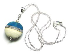 Bright Blue 'Seashore' Necklace by Laura Sparling