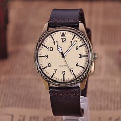 Leather Men Watch, Men Wrist Watch