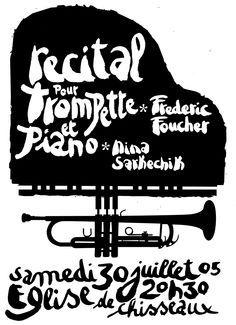 recital poster design