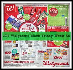 Woot woot!  We already have the Walgreens ad for 2016 Thanksgiving & Black Friday week!