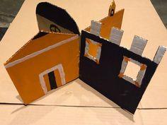 Huizen gebouwen maken van karton