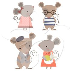 Mouse Family Clip Art