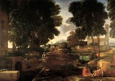 LANDSCAPE WITH A ROMAN ROAD. oil on canvas. 79,3 × 100 cm. Provenance : according to Felibien, painted in 1648. Bibliografia : Blunt 210; Thuilllier 157. Exhibited : 1960, Paris, n. 84.