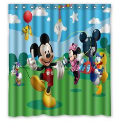 Mickey Mouse Club House Custom Polyester Waterproof Shower Curtain 66 X 72 New