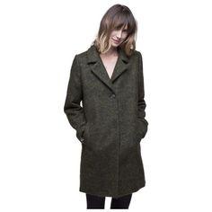 Manteaux Trench And Coat Manteau en tissu poilu laine et alpaga Vert kaki 350x350