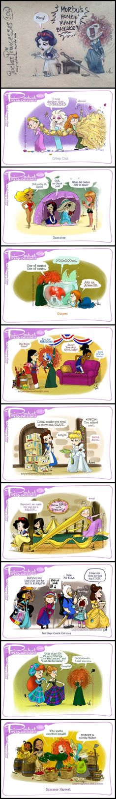 Ideas Funny Disney Comics Pocket Princesses Merida For 2019 Disney Pixar, Walt Disney, Cute Disney, Disney Girls, Disney And Dreamworks, Disney Magic, Disney Princes, Pocket Princesses, Pocket Princess Comics
