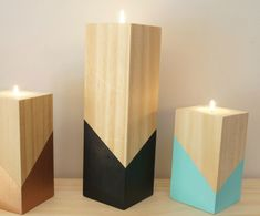 Wooden Tea Light Holder The latest in home decor & accessories from the new Home collection. Wooden Tea Light Holder, Wooden Candle Holders, Small Wood Projects, Scrap Wood Projects, Wooden Crafts, Wooden Diy, Woodworking Candle Holder, Candle Stand, Wood Design