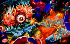Vs Mother Brain by demonbp.deviantart.com on @DeviantArt