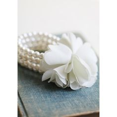 Precious Pearl Flower Bracelet found on Polyvore
