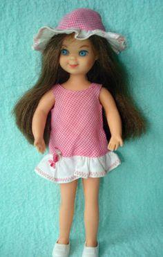 """1960s Vintage Brunette Mattel Barbie Family Doll """"Tutti"""" Doll"""