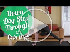 How to Do the Down Dog Step-Through (Beginner) - YouTube