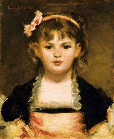 Portrait De Fillette - ND - de Duran Carolus - Huile sur toile - © Sotheby's - Art Digital Studio
