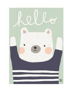Psikhouvanjou Bear Hello Poster