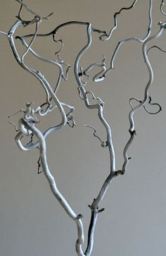 """Twig"". Twig from the garden sprayed white and photographed, by Helena Söderberg"