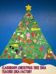 Classroom Christmas Tree - quick and easy!