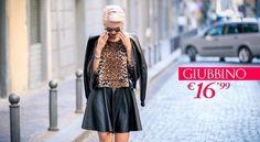 ENJOY YOUR CITY GIUBBINO 16,99€ Vieni a scoprire il total look sul nostro sito ufficiale www.cndcandida.it