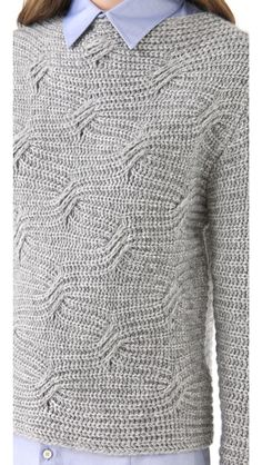 LOMA Patsy Sweater - cool pattern - was doing my head in to see how till I realised it is knitting. get another coffee :)
