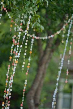 great simple outdoor wedding decoration