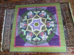 Ricky Tims Kool Kaleidoscope pattern in purple and green