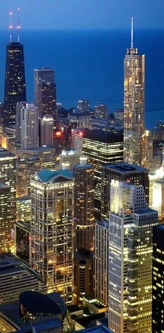 Nighttime in Chicago