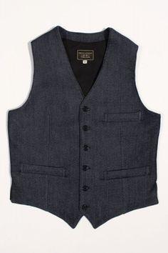 Indigofera Jeans Thurston Vest Indigo : SUNSETSTAR