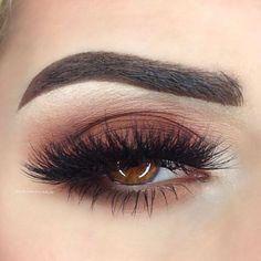 Chocolatey eye with whispy lashes