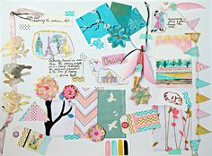 Handmade Mood Board, via Flickr.