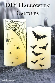 DIY Spooky candles