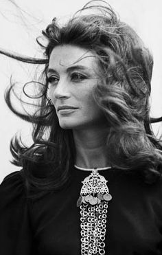 French film actress Anouk Aimee