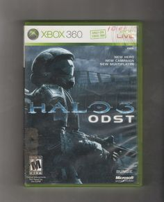 Halo 3 ODST Game XBOX 360, Vintage Games, Antique Alchemy