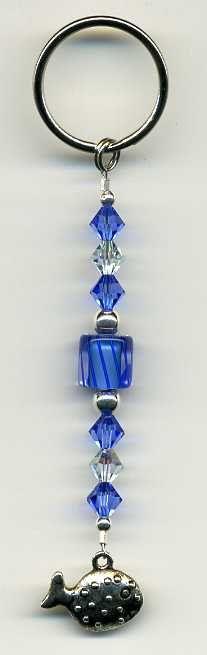 Fish Crystal Keychain Swarovski Crystal by CrystalDesignsByTina, $16.00