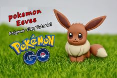How to make pokemon Eevee ✿ Polymer clay Tutorial (fimo) ✿ Irina Ivanitskaya Pokemon Eevee, Pikachu, Clay Pokemon, Pokemon Craft, Clay Art Projects, Polymer Clay Projects, Polymer Clay Creations, Clay Crafts, Polymer Clay Animals